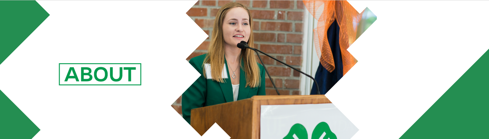 Girl speaking a 4-H meeting